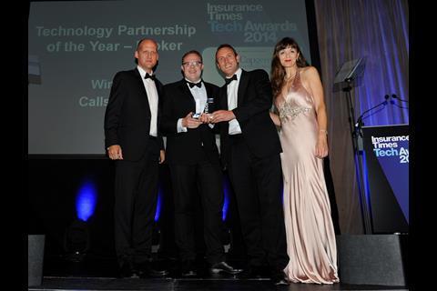 TechAwards 2014 Technology Partnership of the Year - Broker: Callstream